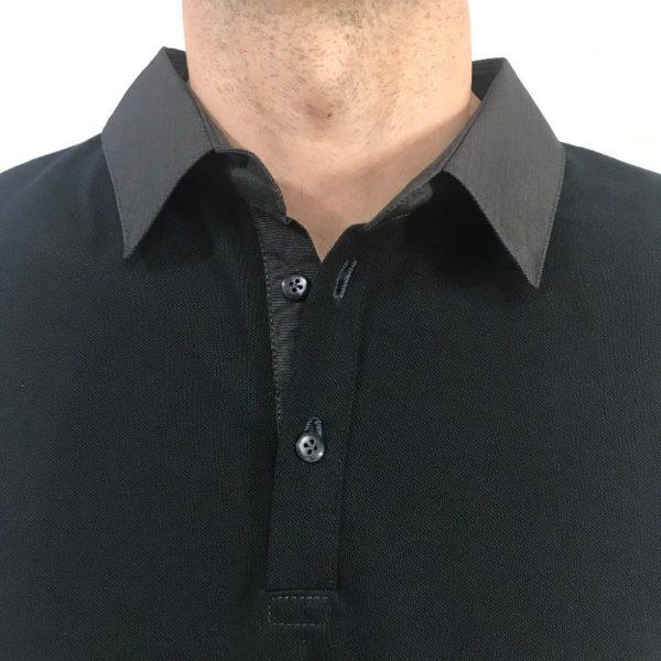 Polo noir col