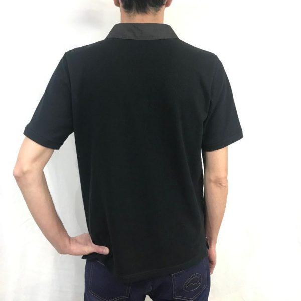 Polo noir de dos