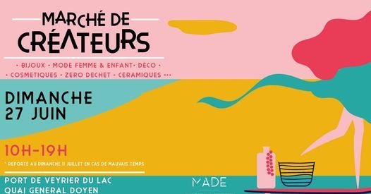 Affiche du marché MADE de Veyrier 2021
