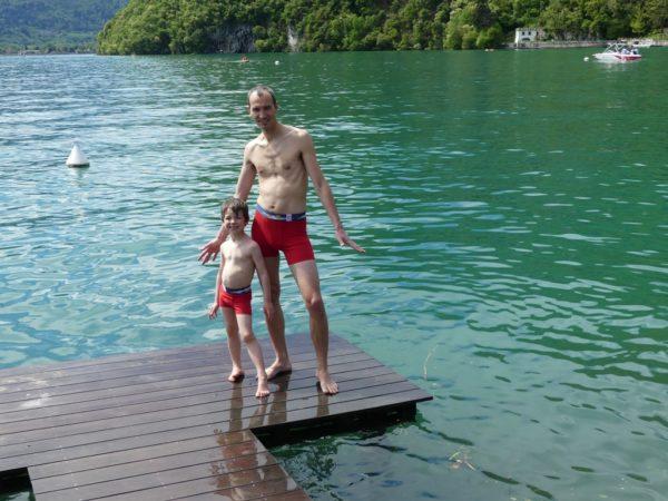 Père et fils en boxer